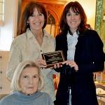 Holly Holzwarth-Wolff recieves the Leslie Weidener Memorial Award, with Homewatch CareGivers president Julie Heidemann, and client Betty Stredler.