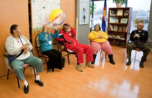Seniors participate in an exercise session at InnovAge