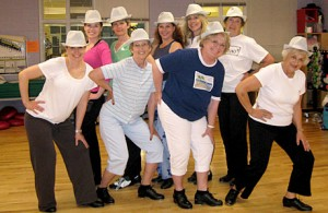 Our adult dancers stopping for a quick photo at the Golden Community Center.