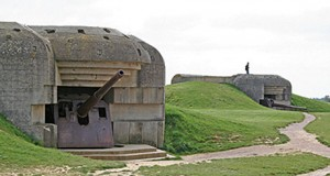 German gun battery at Longues-sur-me