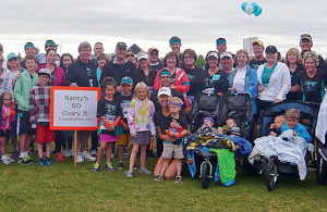 100+ friends, family gather to raise money for Colorado Ovarian Cancer Alliance and the women it supports, including the team captain's mother.