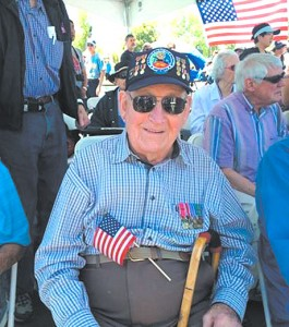 """Sgt Bill Brunger, a """"Battle of the Bulge"""" Survivor, was among the WW II veterans honored at Rocky Mountain Air Show at Aurora Reservoir."""