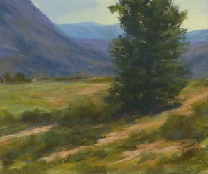 """""""Lonesome Tree,"""" an 11x14"""" pastel, is a sample of artwork by Cal Johnson, the artist who will judge the upcoming Heritage Fine Arts Guild fall art show at Bemis Library in Littleton. (Used by permission.)"""