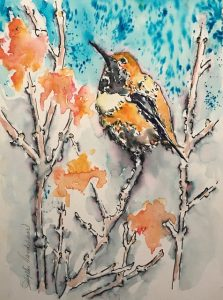 On February 4, artist Phyllis Vandehaar, who created this water media painting, will teach Heritage workshop participants how to use watercolor and ink to unusual effect. (Image used by permission.)