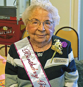 Dorothy Baldwin celebrated her 100th Birthday on Dec. 5th.