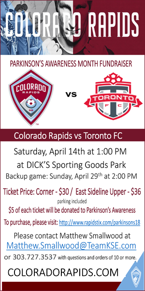 Colorado Rapids Parkinsons Fundraiser
