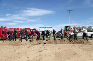 With fire personnel, Board of Directors, contractors, architects, and other dignitaries present, Adams County Fire Rescue broke ground today on a new fire station at the corner of Pecos St. and 69th Ave. Photo by COS Carlos A. Briano.