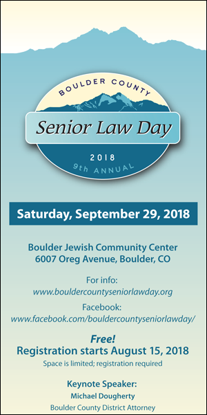 Boulder Senior Law Day 2018