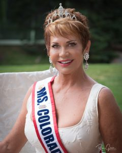 Reigning 2018 Ms. Colorado Senior America and Ms. Senior America – Ms. Gayle Novak from Colorado