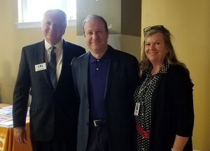 Bob Brocker (on left) the President of Colorado Senior Lobby welcomed the Honorable Governor Jared Polis and Janice Blanchard, the new Colorado State Senior Policy Advisor.