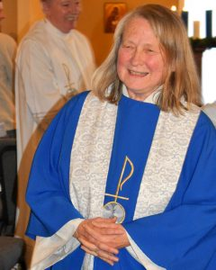 Cynthia Drew, a lawyer turned pastor, celebrates Mass at Holy Family Church in Aurora (at 1092 South Nome) each Saturday at 5 p.m.