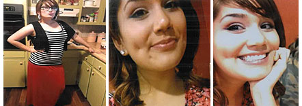 """16 year old Aquaria Butterfly Cortez has been missing since 4/13/14. She is approximately 5'03"""" and 130 lbs with light brown hair and brown eyes. She also has scars from previous cheek piercings."""