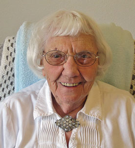 Nellie Hougard celebrates her 100th birthday on May 7, 2014.