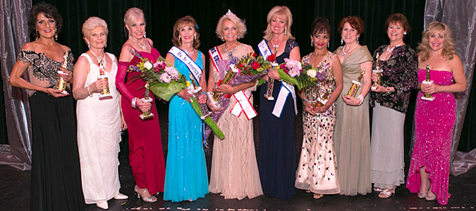 Ms. Buddi Boryla, of Aurora, who was crowned Ms. Colorado Senior America 2015 by Ms. Sharon Nuanes, MCSA 2014 at the Pageant held on Saturday, June 27 at Pinnacle Performing Arts Complex.