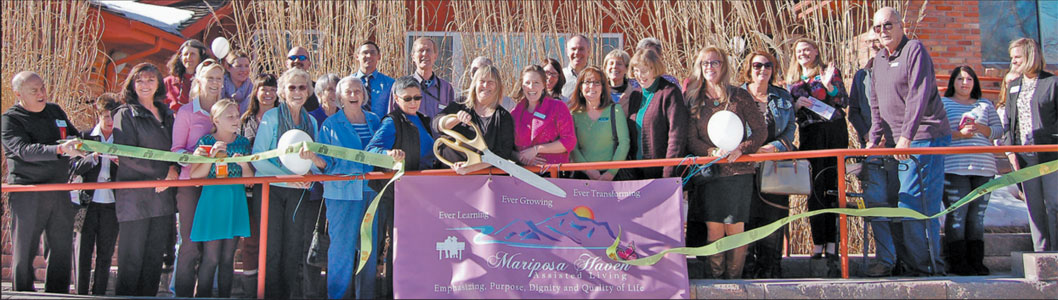 Mariposa Haven is a Residential Assisted living home that recently celebrated their grand opening with a ribbon cutting ceremony.