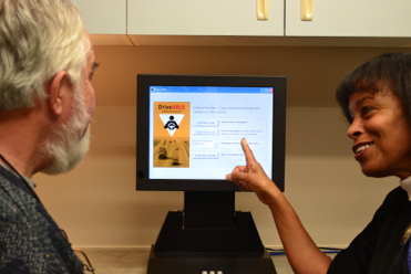 CNI Speech Pathologist Debra Bandstra introduces the DriveABLE assessment to a client.